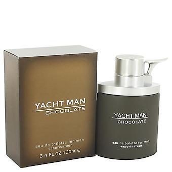 Yacht Man Chocolate Eau De Toilette Spray By Myrurgia 3.4 oz Eau De Toilette Spray