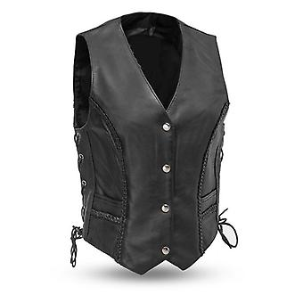 Mkl - elevated women's motorcycle western style leather vest