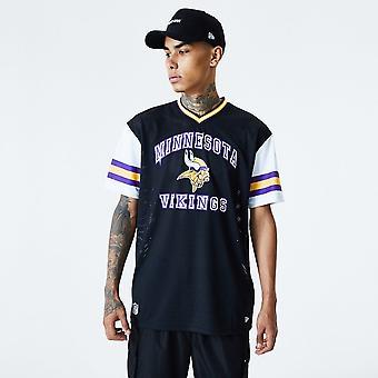 New Era Nfl Minnesota Vikings Stripe Black Oversized Jersey T-shirt