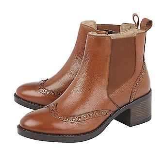 Lotus Tan Leather Lucinda Ankle Boots for Women