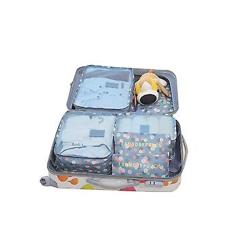 6pcs Luggage Organiser Waterproof Clothes Storage Bags Cubes Travel Organizers Luggage Compression