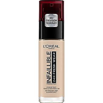 L'Oréal Paris Base de Maquillaje Infalible 24H Fersk slitasje Tono 015 Porselen