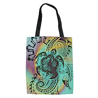 Polynesian Ethnic Style Women's Shopping Bag Grocery Tote Handbag