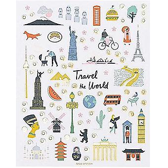World Travel Stickers x 260 inkluderar Eiffeltornet och Frihetsgudinnan