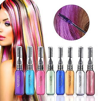 8 Parça saç tebeşir geçici boyama tarak seti