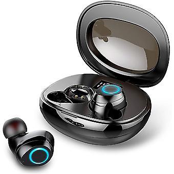 Bluetooth-oortelefoon, waterdichte TWS 3D Hi-FI stereo draadloze oortelefoon IPX6, Bluetooth 5.0-headset met mini-snellaadcassette en microfoon, superlicht, CVC 8.0 ruisonderdrukking voor sport