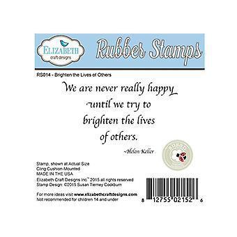 Elizabeth Craft Designs We Are Red Rubber Stamp