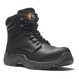 V12 VR600.01 Bison IGS S3 Black Safety Boot Fully Composite Size 8
