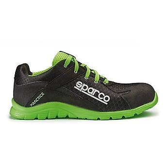 Safety Footwear Sparco Practice 07517 Black/Green (Size 42)