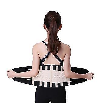 Men women adjustable elastic waist support belt lumbar back medical bone orthopedic exercise brace slimming belt waist trainer