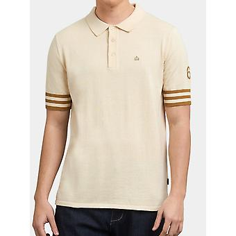 Wilson Ivory Varsity-Style Knitted Polo Shirt