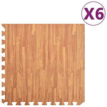 vidaXL floor mats 6 pcs. wood optics 2.16 m2 EVA foam