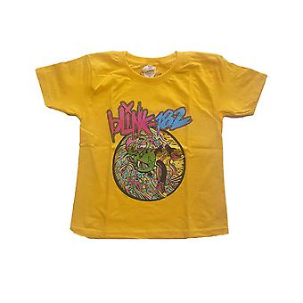 Blink 182 Kids T Shirt Overboard Event Logo new Official Yellow Ages 3-14 yrs
