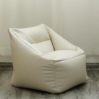 Children Kids Leather Single Sofa Couch No Filler Corner Lazy Sofa