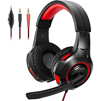 FengChun Gaming Headset, Stereo wired Over-Head Gaming Kopfhörer mit Noise Canceling Mikrofon LED