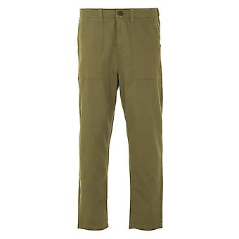 Farah Hawtin Twill Relaxed Fit Trousers - Vintage Green