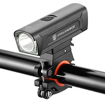 Fahrrad-Aluminium-Legierung Scheinwerfer, USB wiederaufladbare Nachtfahren Taschenlampe