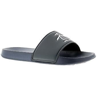 Penguin pier slide Mens Beach Sandals navy UK Size