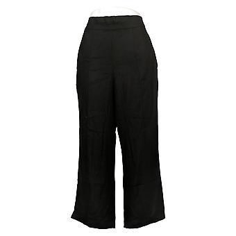 DG2 Af Diane Gilman Kvinders Bukser Stretch Linned-Blend Crop Black 697825