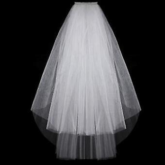 Fashion Wedding Veil Eenvoudige Tule Wit Ivoor