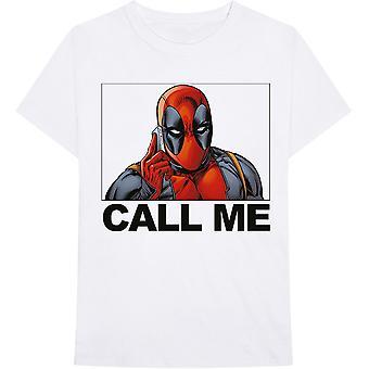 Marvel Comics - Deadpool Call Me Heren XX-Large T-Shirt - Wit