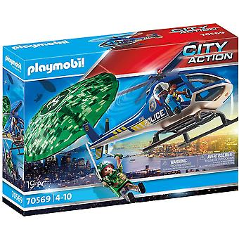 Playmobil City Action Police Parachute Search Playset