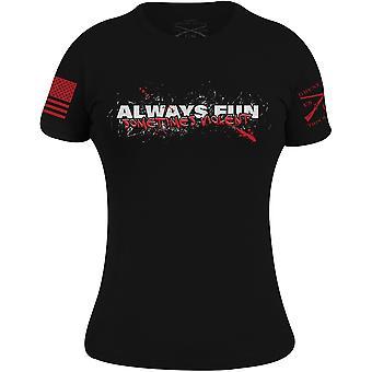 Grunt style naiset & apos; s aina hauskaa, joskus väkivaltainen t-paita - musta