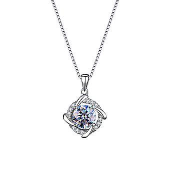 طاحونة موشين الماس قلادة الترقوة الأزهار