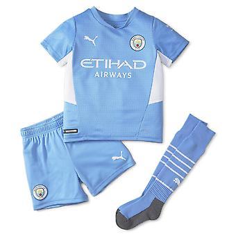 Puma Kids Manchester City Home Mini Kit 2021 2022 Domestic Sports