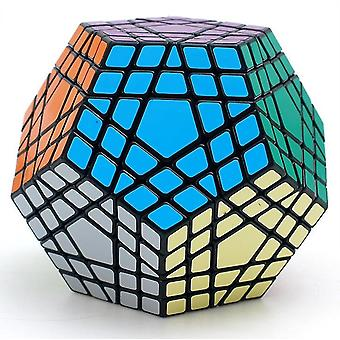 Professional Dodecahedron Magic Cube jucărie, Rubik's Cube, Twist Puzzle Learning Educational (Negru)