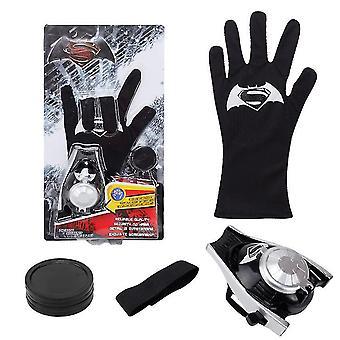 Kinderen speelgoed handschoen zender, accessoires hero handschoen homecoming superheld verkleden kostuums (zwart)