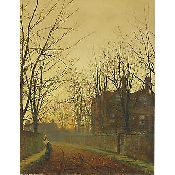 Late October,john Atkinson Grimshaw Art Reproduction.romanticism Style Modern Hd Art Print Poster,canvas Prints Wall Art For Home Decor Pictures (unfr
