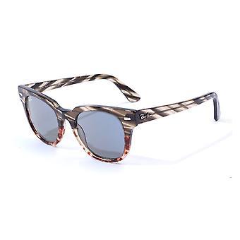 Ray-Ban Meteor Striped Havana Sunglasses - Striped Grey Gradient Brown