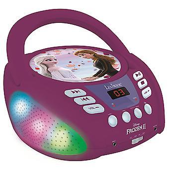 Lexibook RCD109FZ Disney Frozen II Boombox Radio CD Player mit Bluetooth UK Stecker