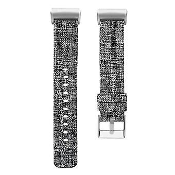 Replacement Woven Canvas Fabric Watch Strap Band For Fitbit Charge 3