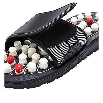 One Pair Foot Massage Shoes Rotating Foot Acupuncture Slipper Sandals Relaxation Stress Healthy For Man And Women Reflex