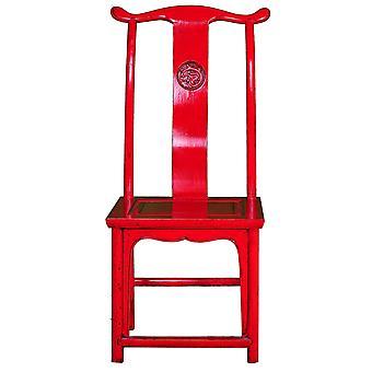 Hieno aasialainen rinnastava kiinalainen tuoli punainen W50xD50xH56cm