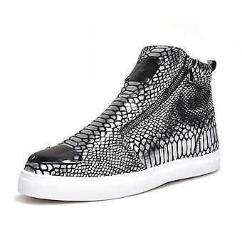 Estilo otoño zapatos de hombre botas de hombre más zapatos de algodón de cachemira B198-1 plata