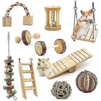 Hamster Chew Toys 10 Pack , Hamster Exercise Roller Teeth Care Molar Leksak
