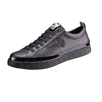 The New Small White Shoes Leather Men's Shoes Low Help Men's Casual Board Shoes