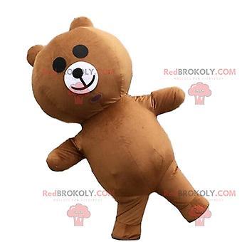 Maskottchen REDBROKOLY.COM aufblasbaren Bären, Verkleidung eines aufblasbaren Teddybären