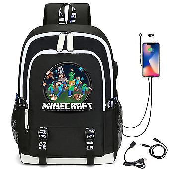 Minecraft młodzieżowy plecak szkolny