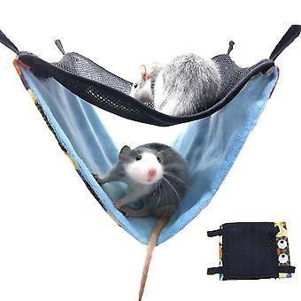 مزدوج طبقة تنفس شبكة شنقا عش السرير الحيوانات الأليفة الصغيرة
