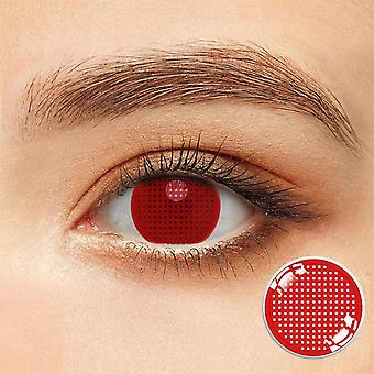 Cosplay Contact Lenses Red Net