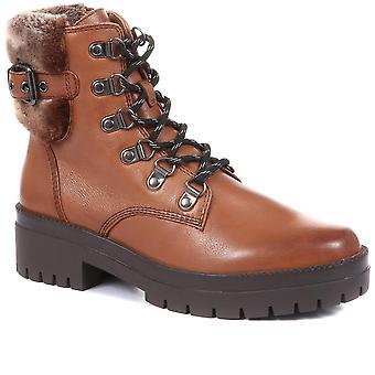Regarde Le Ciel Womens Olga Leather Hiker Boots