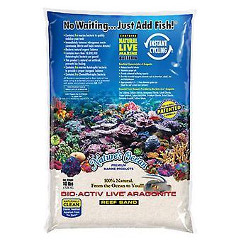 Nature's Ocean Natural White #1 Bio-Activ Live Aragonite Reef Sand - 20 lbs (0.5-1.7 mm Grain)