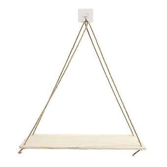 Swing Hanging Rope Wall Shelf Plant Pot Shelf Indoor And Outdoor  Holders & Racks