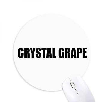 Crystal Grape Fruit Name Foods Round Non-slip Rubber Mousepad Game Office Mouse Pad