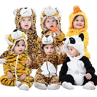 Baby Rompers Winter Autum Animal Costume Newborn Girl Outfit Winter Baby Boy Clothes Toddler Cartoons Jumpsuit Pajama Romper Baby Gift Flannel Hooded