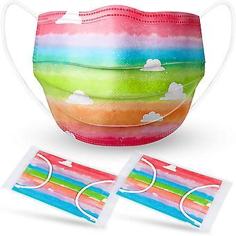 50st Rainbow Face Masker Cloud Engångsbarn